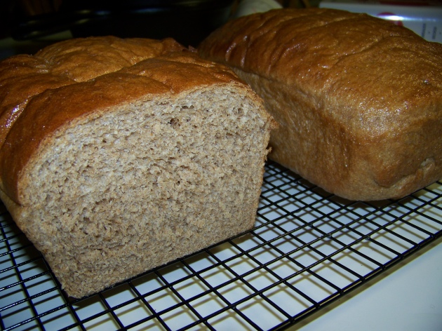 Homemade Whole Wheat Sandwich Bread